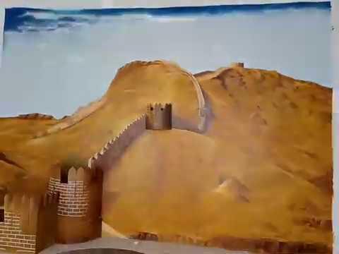 3D Wall Art Draw of Ranikot Fort .. Amazing You don't believe this picture