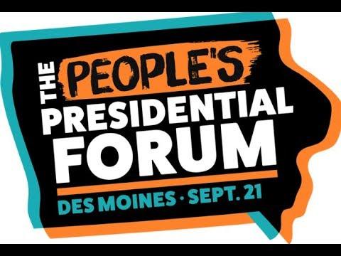 Watch live: Elizabeth Warren and Bernie Sanders at Iowa 'people's forum'