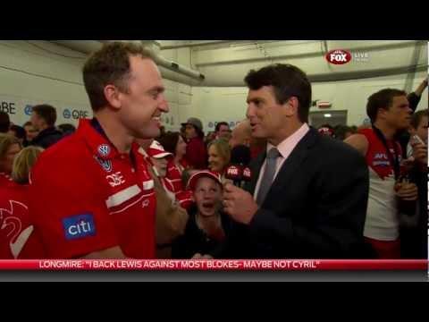 AFL 2012 Grand Final Post Match - Paul Roos interviews John Longmire