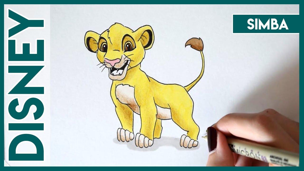 Disney n°2 Dessiner SIMBA ! - Close To Art - YouTube