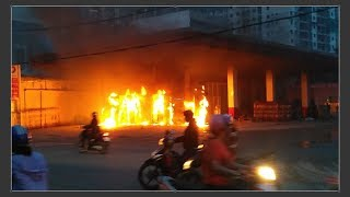 Cận Cảnh vụ cháy Cây Xăng Q12 | Xe Cứu Hỏa bó tay ✔️