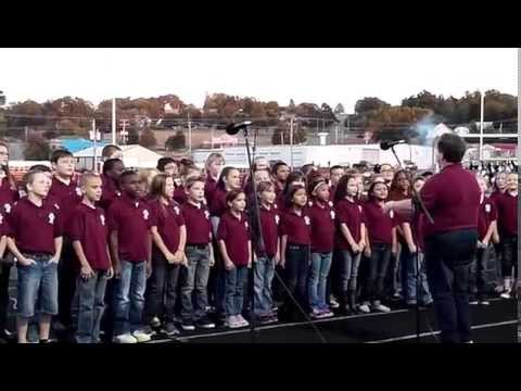 Morrilton Intermediate School Little Pup Singers perform the Star Spangled Banner