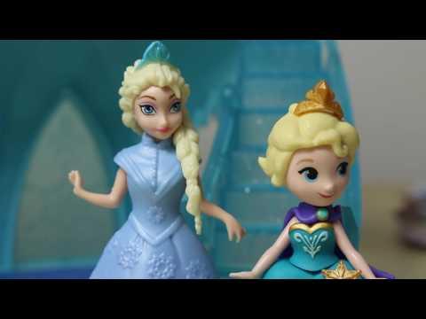 Frozen! Zamek Elsy & MagiClip Anna & Bałwan z Play Doh ☃️ Disney