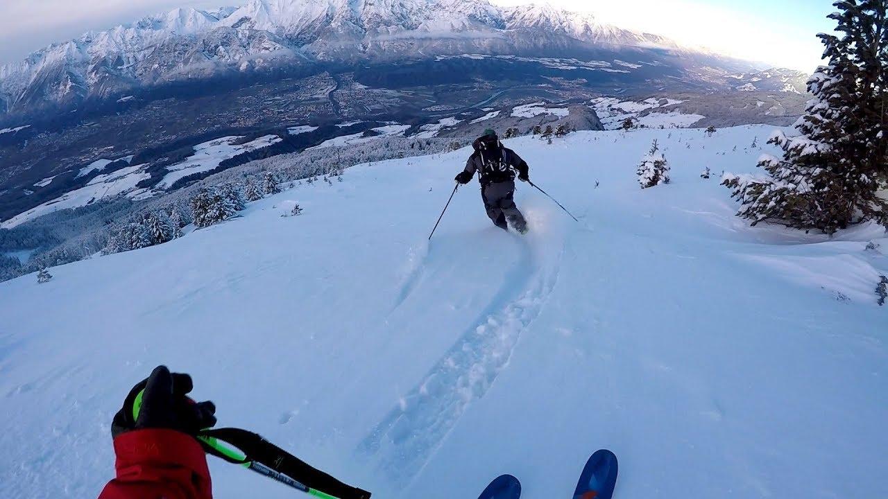 Sonniges ski carving im powder youtube