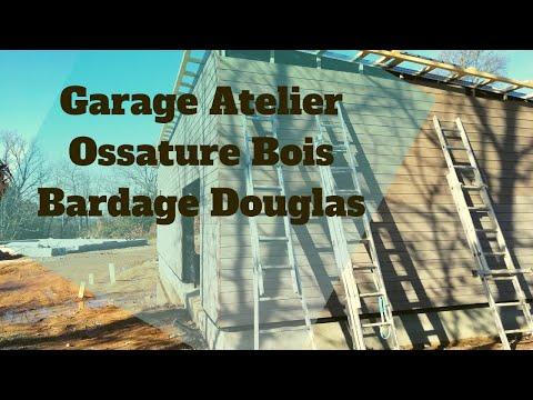 Accompagnement en Auto Construction sur Garage Atelier en Ossature Bois & Bardage Douglas