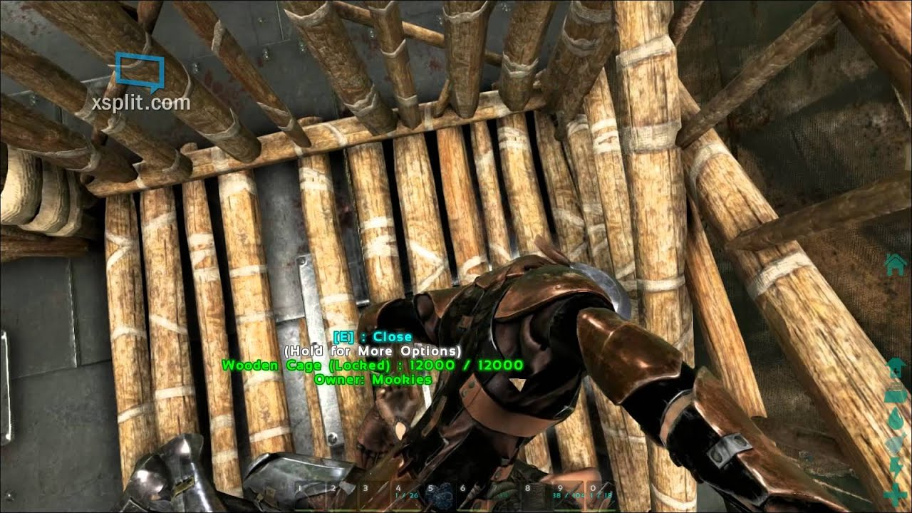 Ark Survival Evolved Patch 227 Wooden Cage Surprise Your Tribe By Locking Them In The Wooden Cage