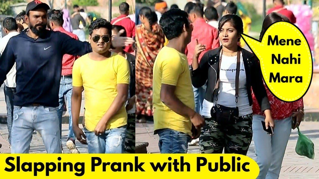 Slapping Prank with Public | Prank Rush | Pranks in India