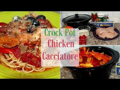 Crock Pot Chicken Cacciatore Recipe Tutorial