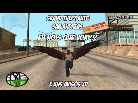 Gta San Andreas Gameplay Eh Nois Que Voa Uns Avisos Xd