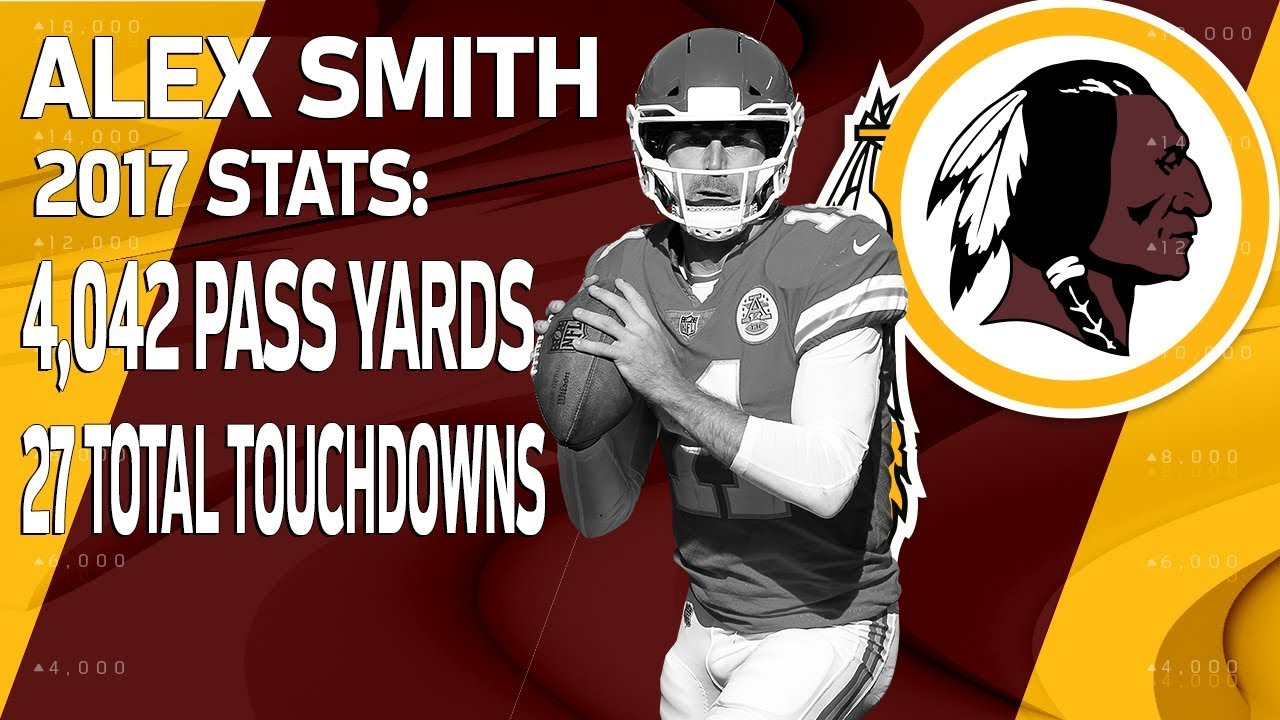 b74c6a2e7 New Redskins QB Alex Smith s 2017 Highlights