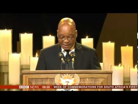 Nelson Mandela State Funeral Tribute by Jacob Zuma President of South Africa
