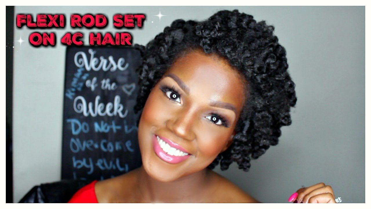 Flexi Rod Set On Short Natural Hair 4c Hair Youtube