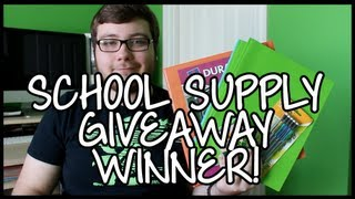 School Supply Giveaway Winner! Thumbnail