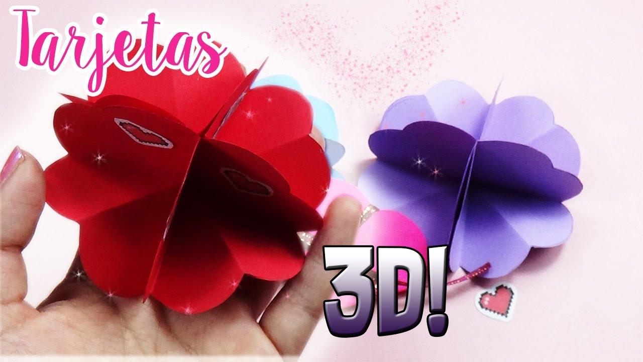Tarjetas 3d de flores regalos f ciles y r pidos diy - Regalos faciles y rapidos ...