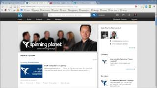 Our ceo brynn neilson shows how he uses his personal connections on linkedin to boost views of spinning planet business page posts.