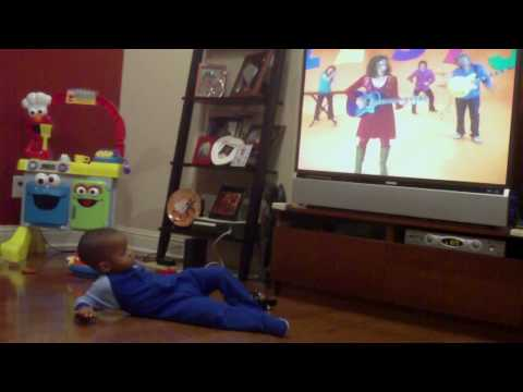 Maleeq dancing to 5 days Old  the Laurie Berkner Band from Nick Jr