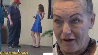 Wife's reaction to her Husband Caught Cheating with Younger Girl!
