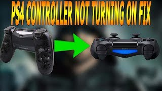 PS4 CONTROLLER NOT TURNING ON FIX