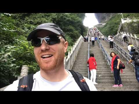 Tianmen Mountain (Part 1), Zhangjiajie, China Walkabout  天门山