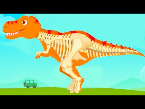 Fun Jurassic Dig Kids Games - Baby Find Dinosaur Bones With Cute Vehicles - Dino Game For Children