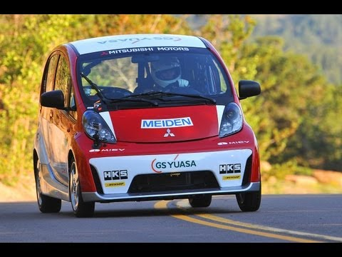 Beccy Gordon attacks the 2012 Pikes Peak International Hill Climb in an Electric Car