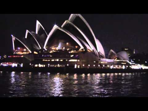 Approaching Circular Quay At Night On The Manly Ferry, Sydney, NSW, Australia: 21/08/15
