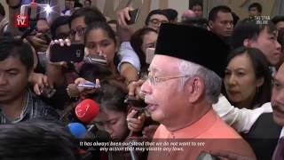 Najib responds to US probe into embezzlement of 1MDB funds (subtitled)
