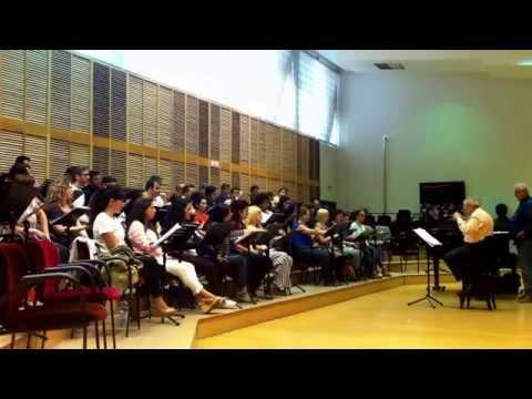 Coro Intermezzo. Ensayo La Fille Du Regiment (3)