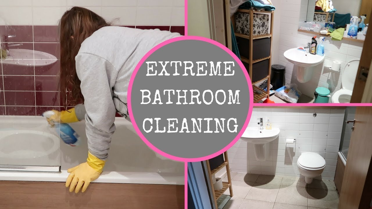 Extreme Bathroom Cleaning Dirty Sd Clean With Me
