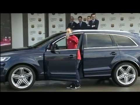 Audi Car Handover keeps the stars of FC Barcelona wired