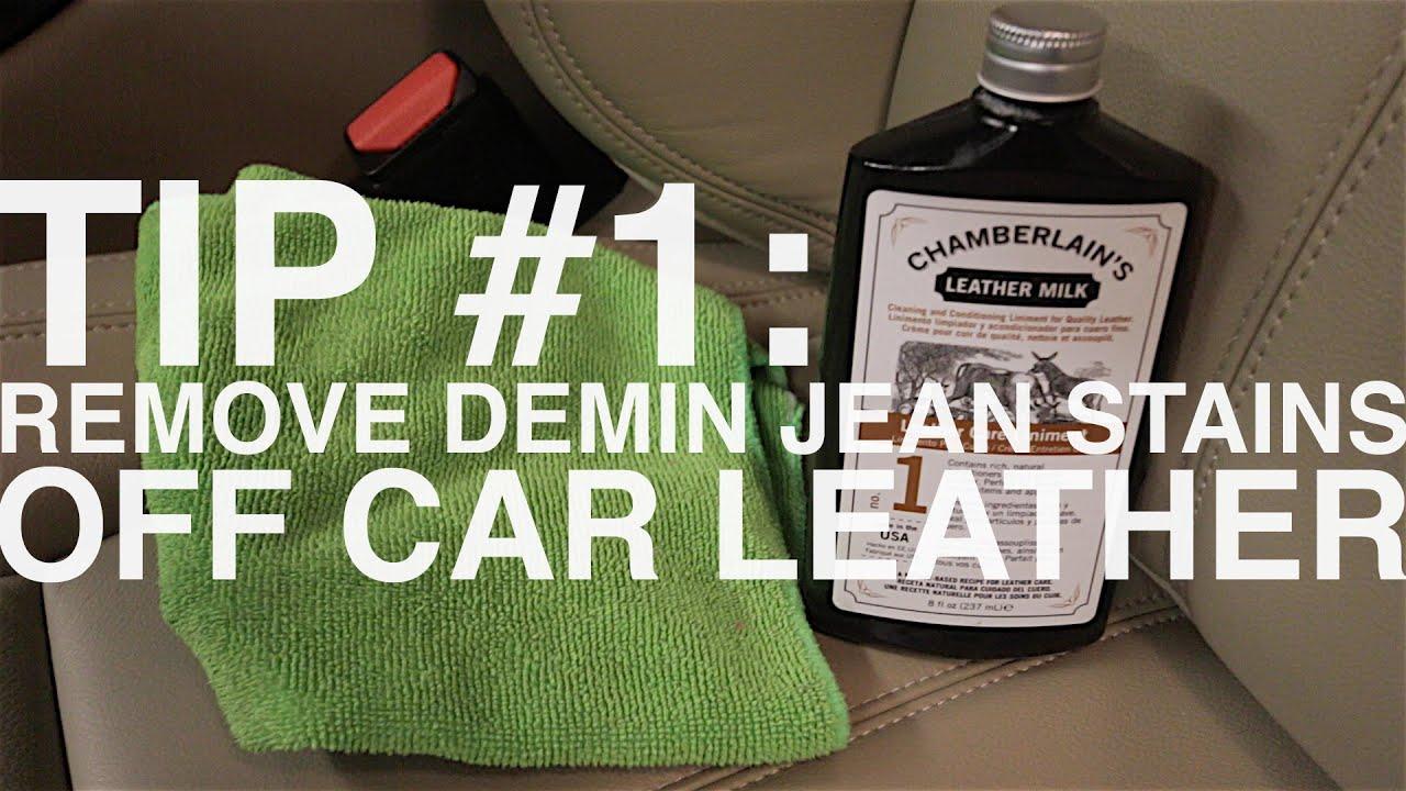tip 1 remove denim jean rub stains off light car leather interior youtube. Black Bedroom Furniture Sets. Home Design Ideas