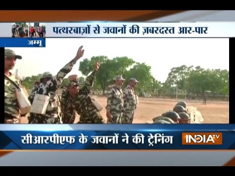Special training for CRPF to tackle stone pelting in Jammu And Kashmir