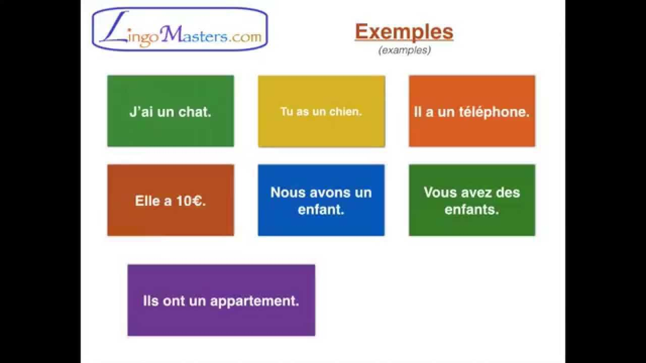 Learn French: Lesson 6 - conjugation of the verb