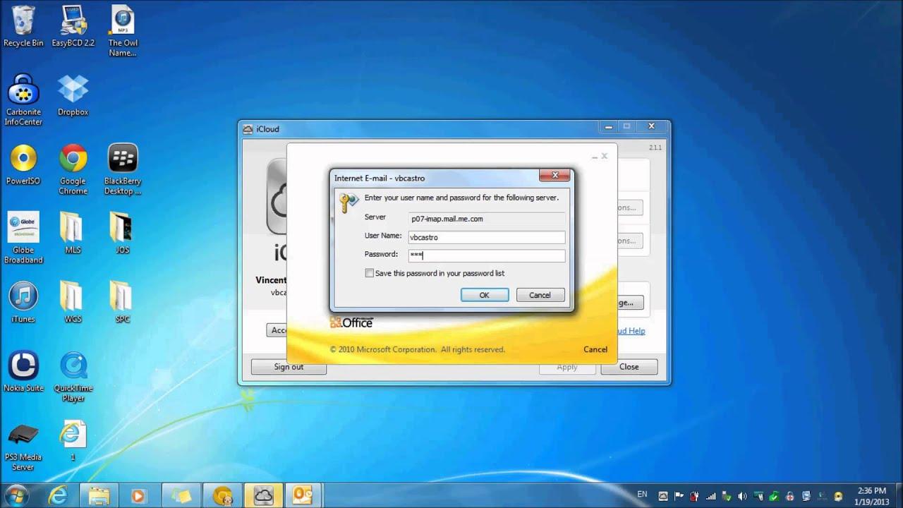 Icloud photos windows 10 - Setup Icloud Control Panel For Windows 7