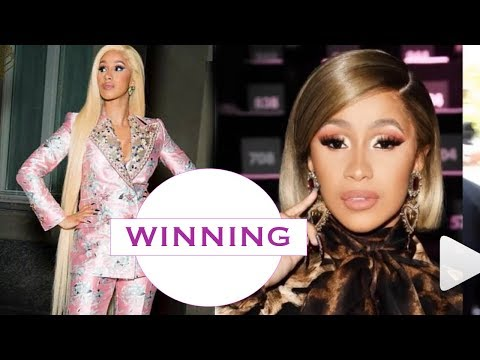 Cardi B makes History - The first Female Rapper to have 3 NO. 1 HITS ON TOP 100 BILLBOARD - CONGRATS