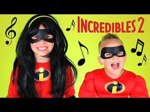 Disney Pixar Incredibles 2 Violet and Dash Costumes! Guess That Disney Song!