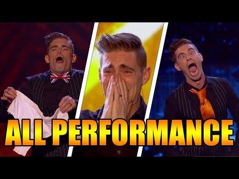 Matt Edwards funniest ever comedy Magician All Performance Britain's Got Talent 2017【GTF】