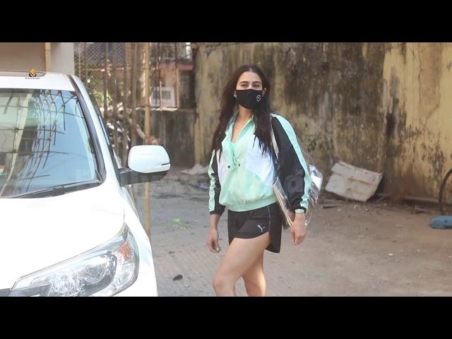 Sara Ali Khan Spotted At Pilates Gym Santacruz