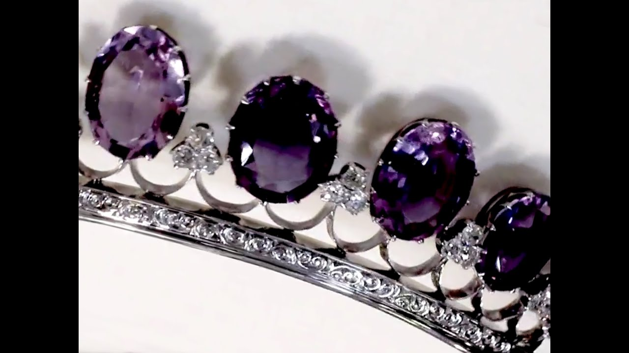 Antique Tiara With Amethysts And Diamonds Youtube