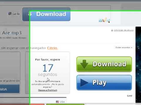 Cómo descargar música mp3 con 4Shared.com
