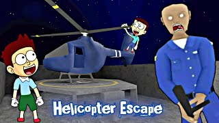 Helicopter Escape in Evil Officer Horror Game | Shiva and Kanzo Gameplay