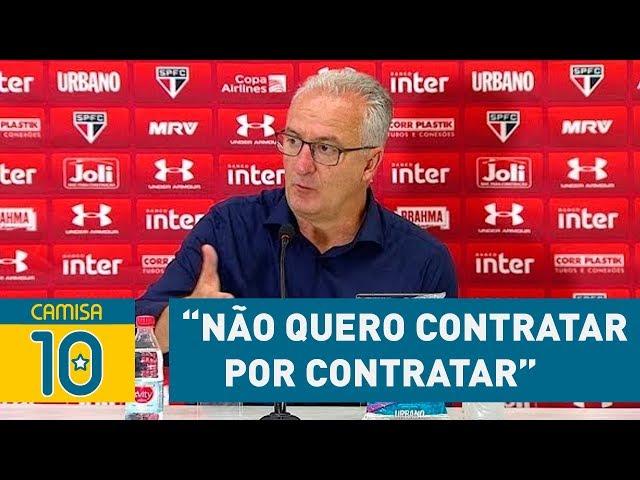 """""""NÃO quero CONTRATAR POR CONTRATAR"""", avisa DORIVAL"""