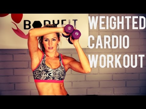 25 Minute Weighted Cardio Workout for Fat Burning