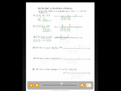 how to do set builder notation