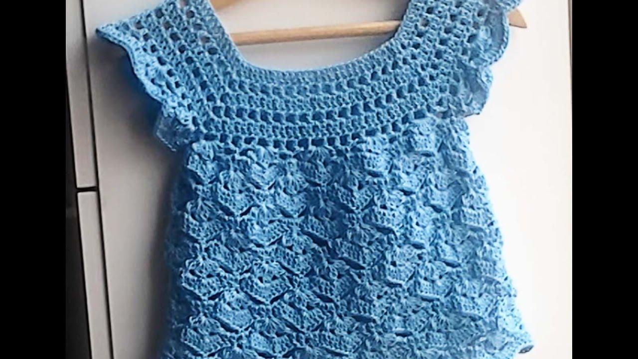 Blusa polera o remera a crochet muy facil 2 parte youtube for Cosas de ganchillo faciles