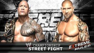 Extreme Rules Match Card - WWE 2K15 - Universe