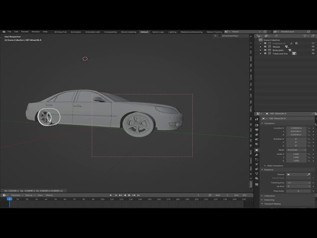 Part 1 How to rig a car in 2 minutes in Blender 2.8