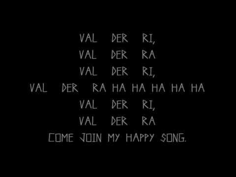 Happy Wanderer - lyrics
