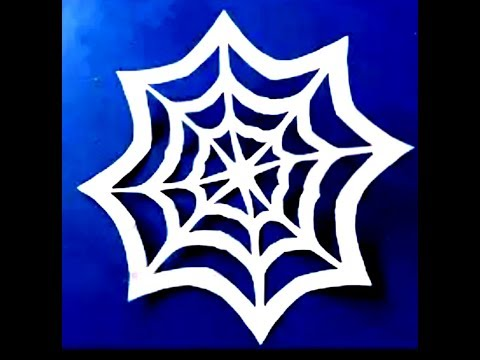 How to make spider Web out of paper | Halloween craft for kids | DIY