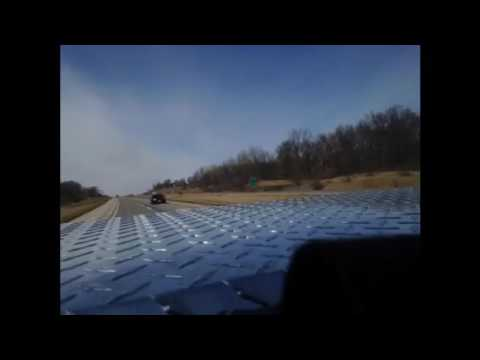 Zooming Thru Iowa, Missouri, and Illinois, Time lapse driving 3600mph